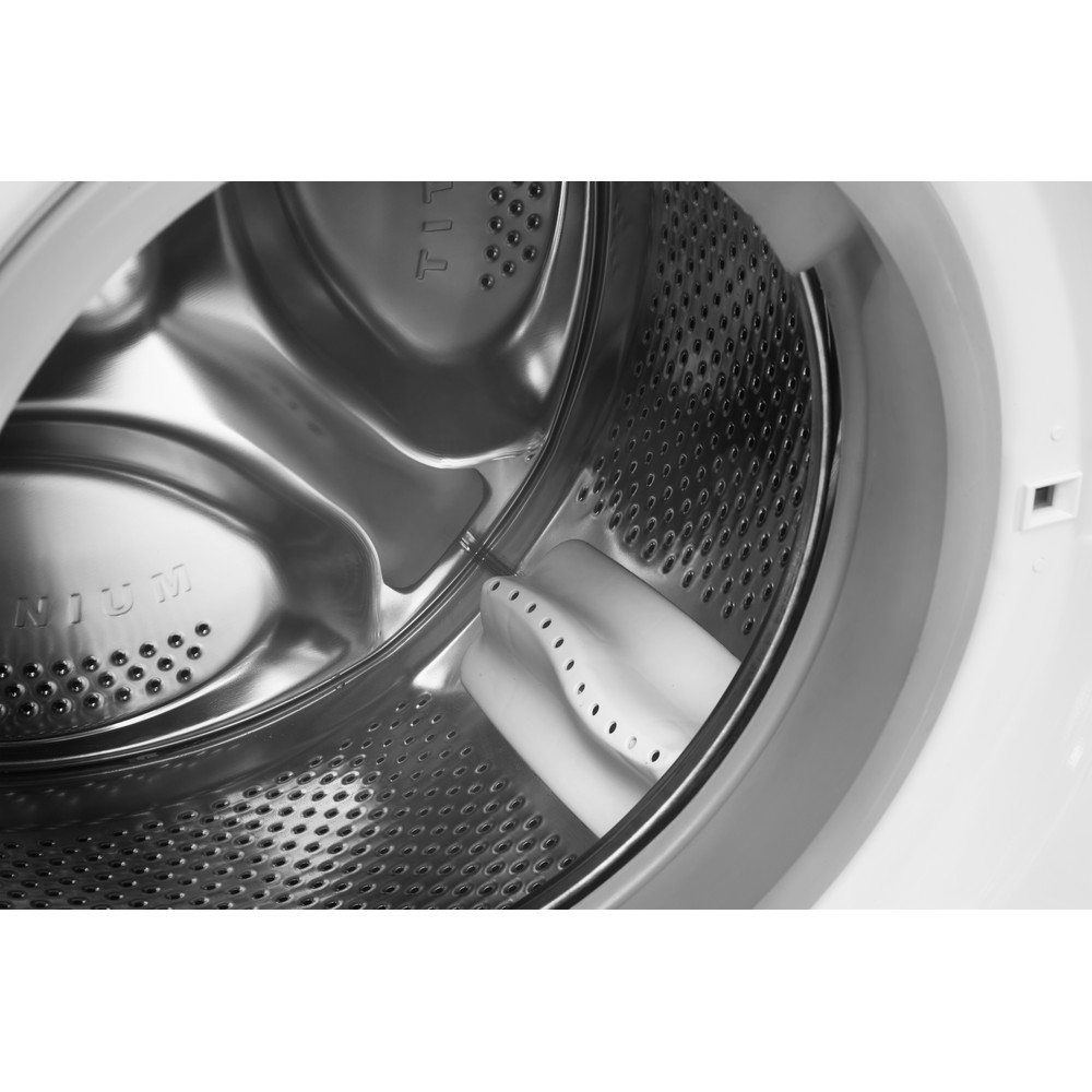 Indesit Washer dryer Free-standing IWDC 6125 (UK) White Front loader Drum
