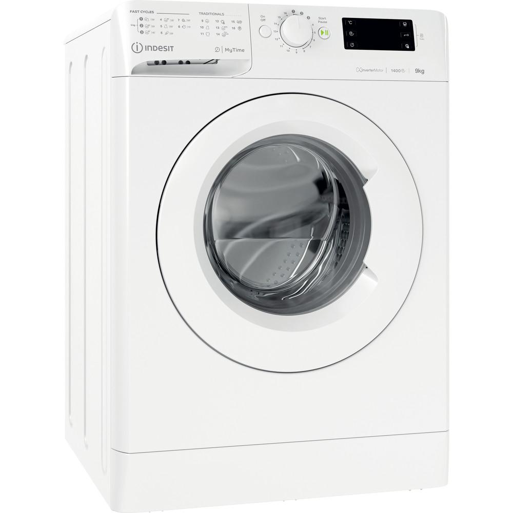 Indesit Vaskemaskine Fritstående MTWE 91483 W EU Hvid Frontbetjent D Perspective