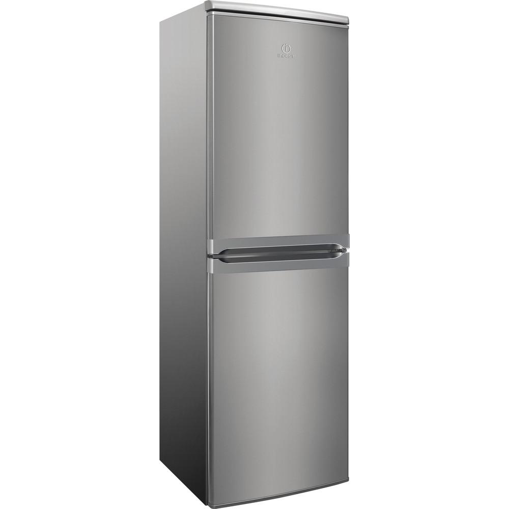 Indesit Kombinacija hladnjaka/zamrzivača Samostojeći CAA 55 NX 1 Inox 2 doors Perspective