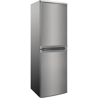 Indesit Combiné réfrigérateur congélateur Pose-libre CAA 55 NX 1 Inox 2 portes Perspective