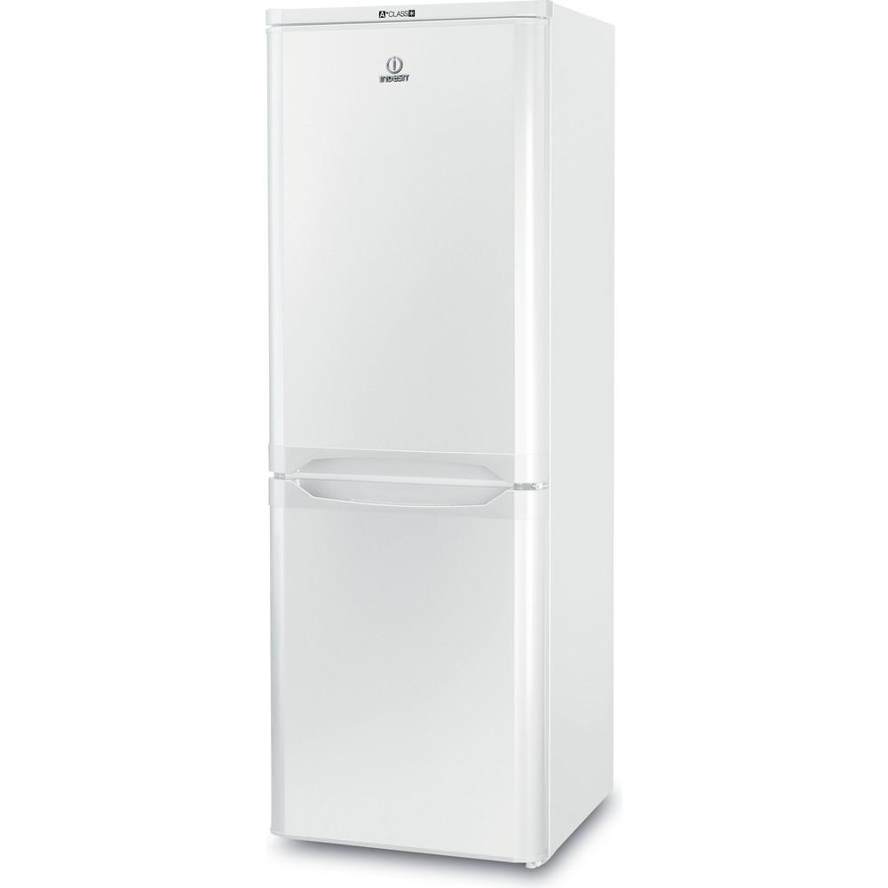 Indesit Комбиниран хладилник с камера Свободностоящи NCAA 55 Бял 2 врати Perspective