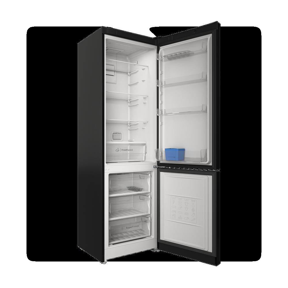 Indesit Холодильник с морозильной камерой Отдельностоящий ITS 5200 B Черный 2 doors Perspective open