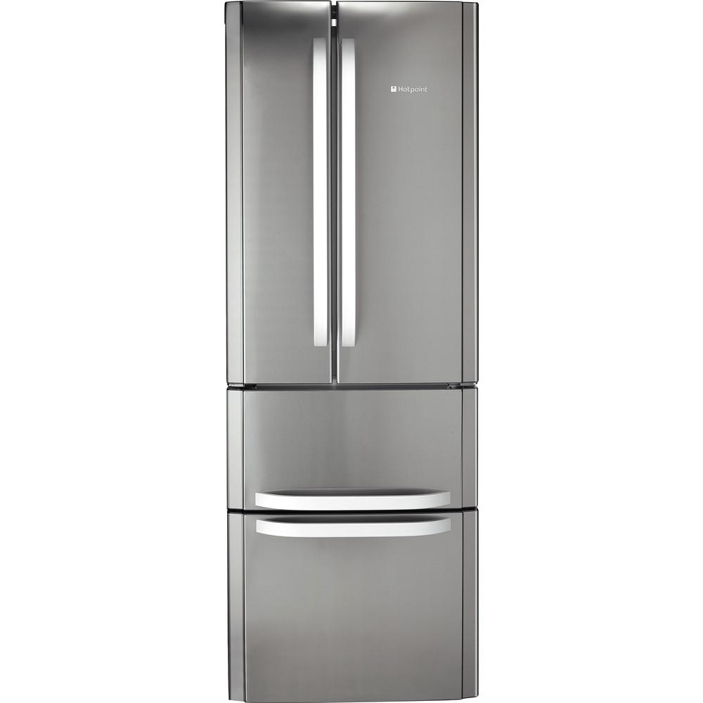 Hotpoint Fridge Freezer Free-standing FFU4D X 1 Inox 2 doors Frontal