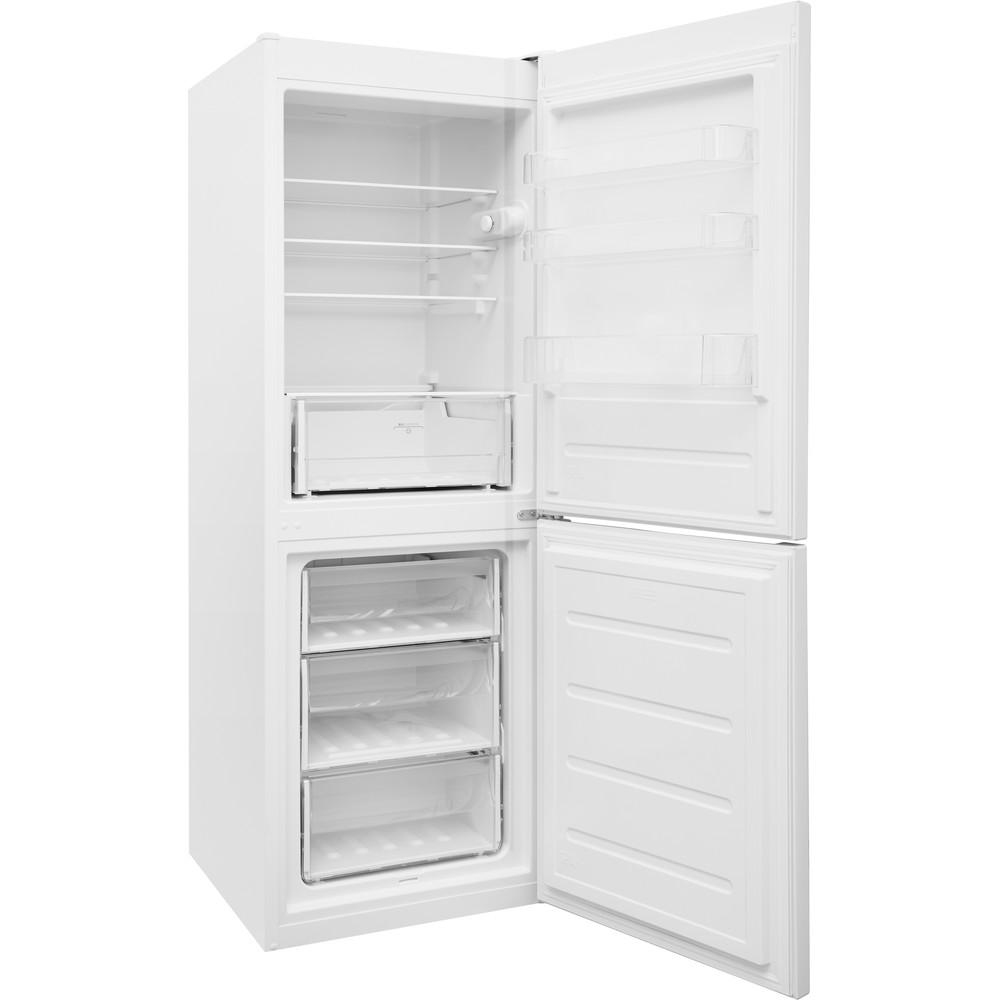 Indesit Kombinovaná chladnička s mrazničkou Voľne stojace LR7 S2 W Biela 2 doors Perspective open