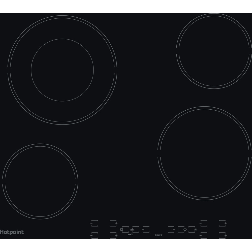 Hotpoint HOB HR 605 B H Black Radiant vitroceramic Frontal
