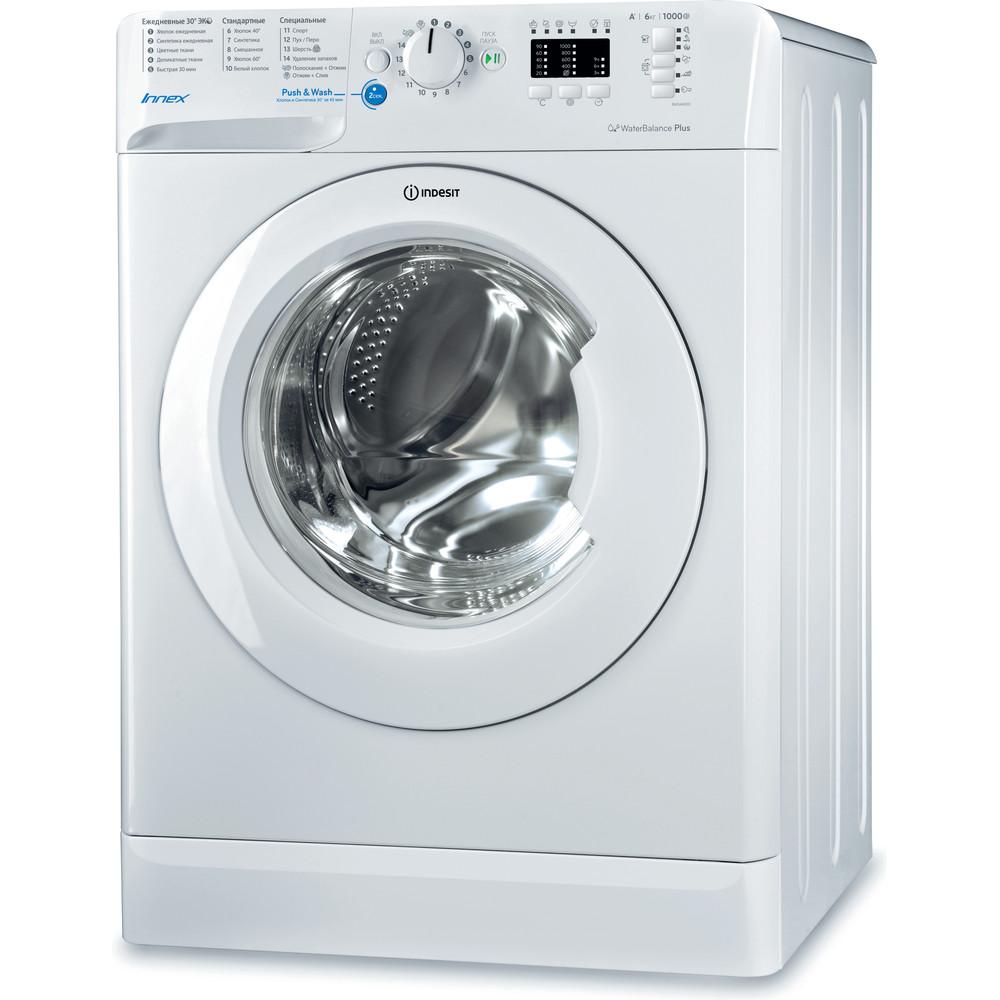 Indesit Стиральная машина Отдельностоящий BWSA 61051 Белый Фронтальная загрузка A Perspective