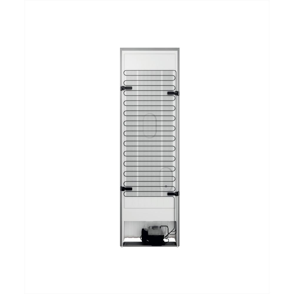 Indesit Combiné réfrigérateur congélateur Pose-libre INFC9 TI21X Inox 2 portes Back / Lateral