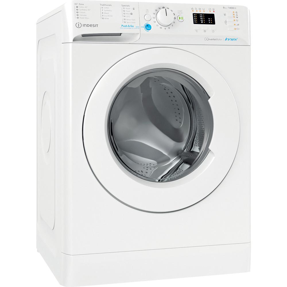 Indesit Washing machine Free-standing BWA 81484X W UK N White Front loader C Perspective