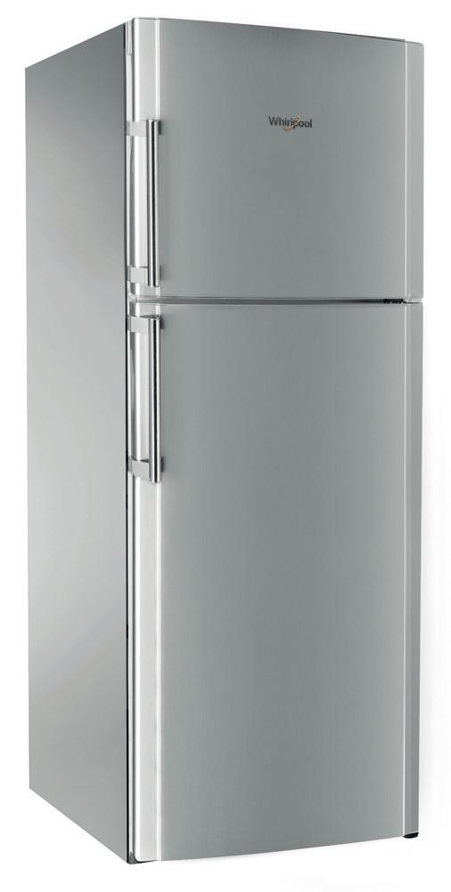Whirlpool Combiné réfrigérateur congélateur Pose-libre TDC 8010 H X Inox 2 portes Perspective