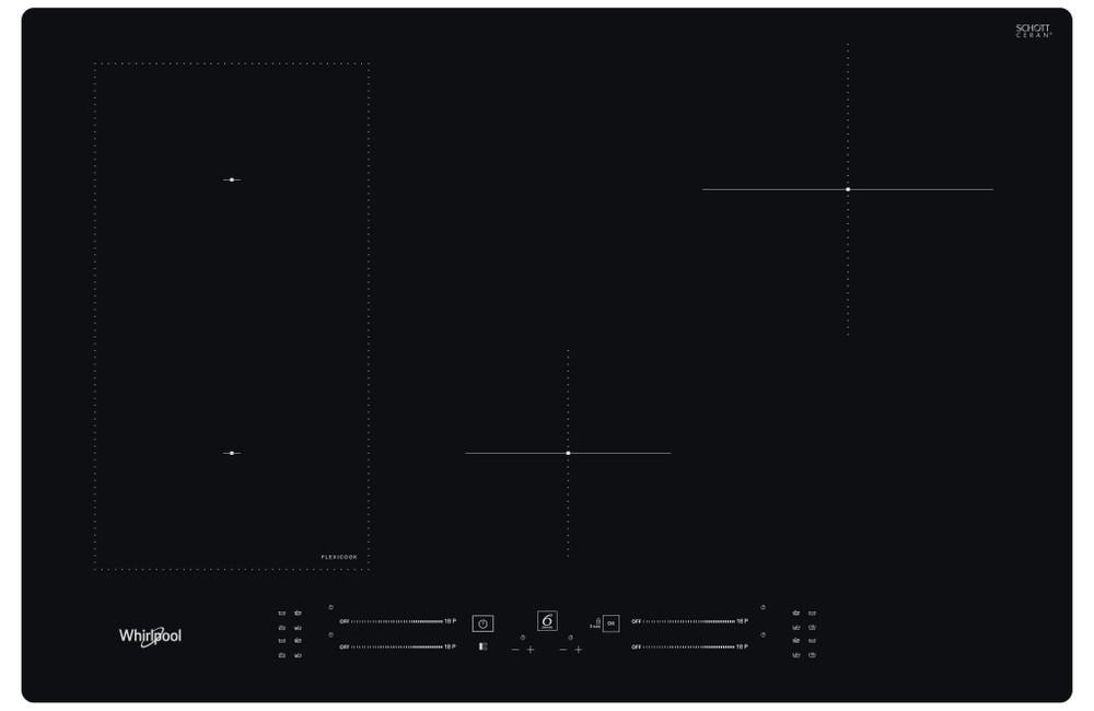 Whirlpool Hob WL S3777 NE Black Induction vitroceramic Frontal