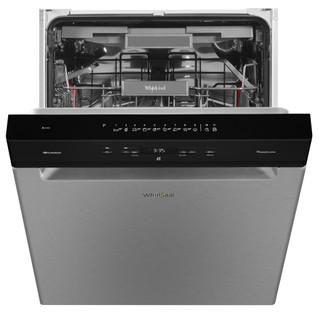 Whirlpool-opvaskemaskine: inox-farve, fuld størrelse - WUO 3O33 DLX
