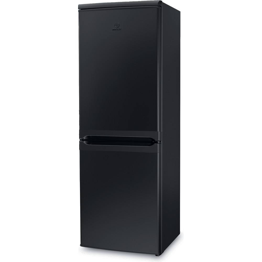 Indesit Fridge-Freezer Combination Free-standing IBD 5515 B 1 Black 2 doors Perspective