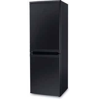 Indesit Fridge Freezer Free-standing IBD 5515 B 1 Black 2 doors Perspective