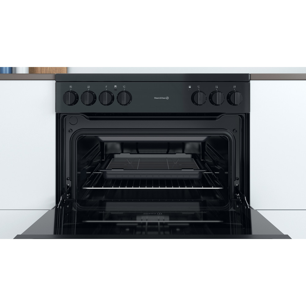 Indesit Double Cooker ID67V9KMB/UK Black A Cavity