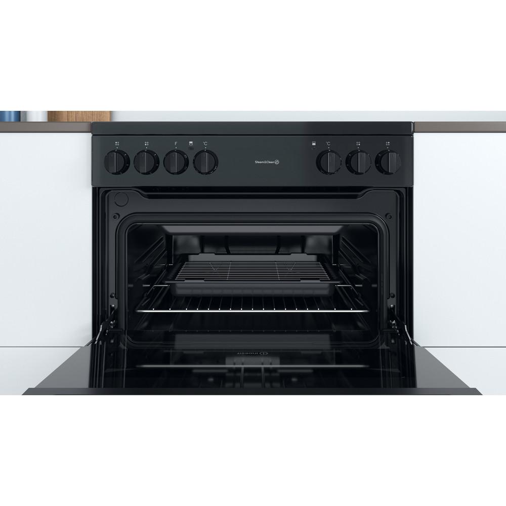 Indesit Double Cooker ID67V9KMB/UK Black B Cavity