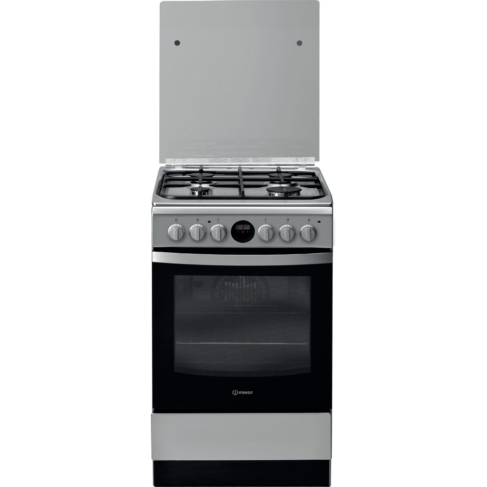 Indesit Kuchenka IS5G8CHX/BA Inox Gazowy Frontal
