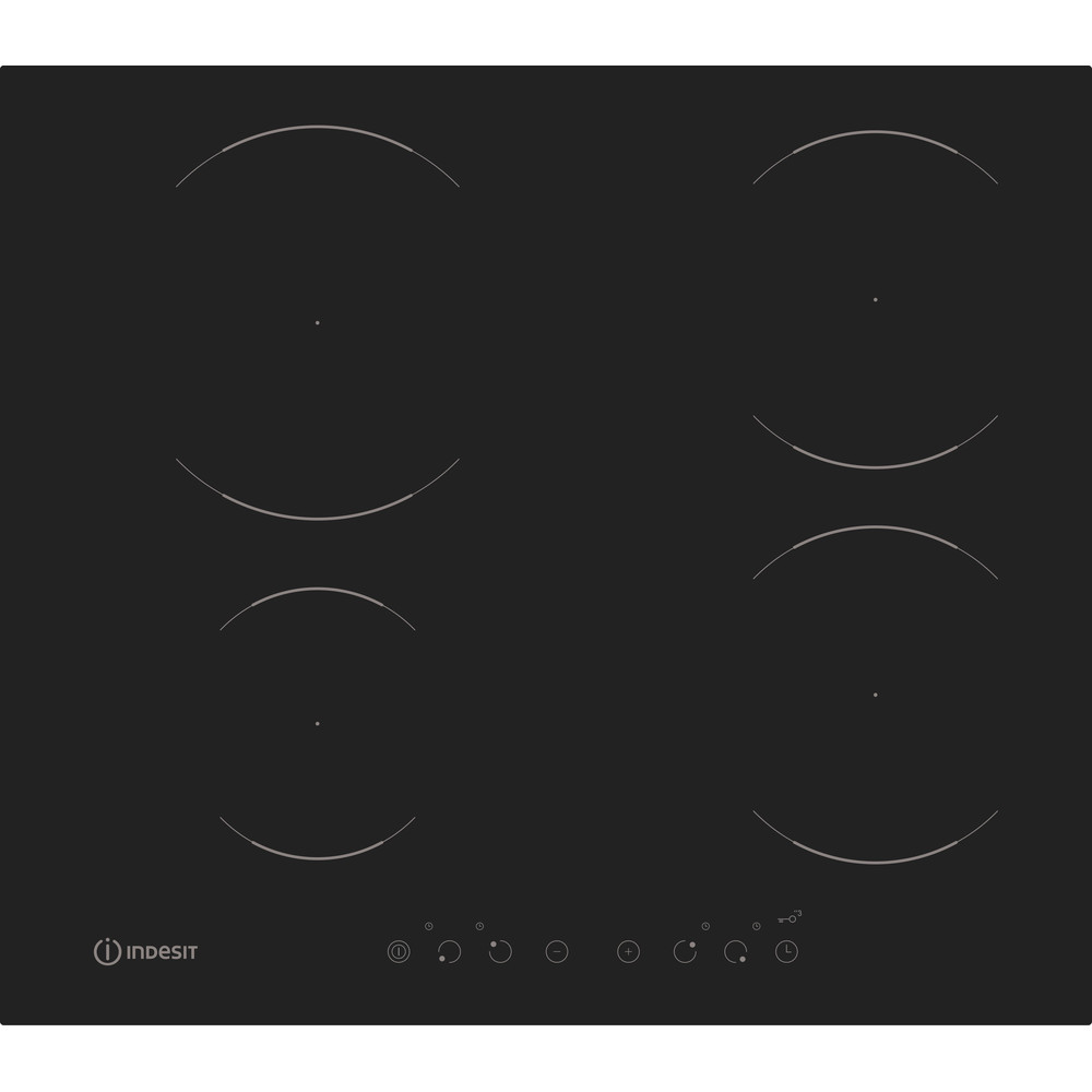 Indesit HOB VIA 640 0 C Black Induction vitroceramic Frontal