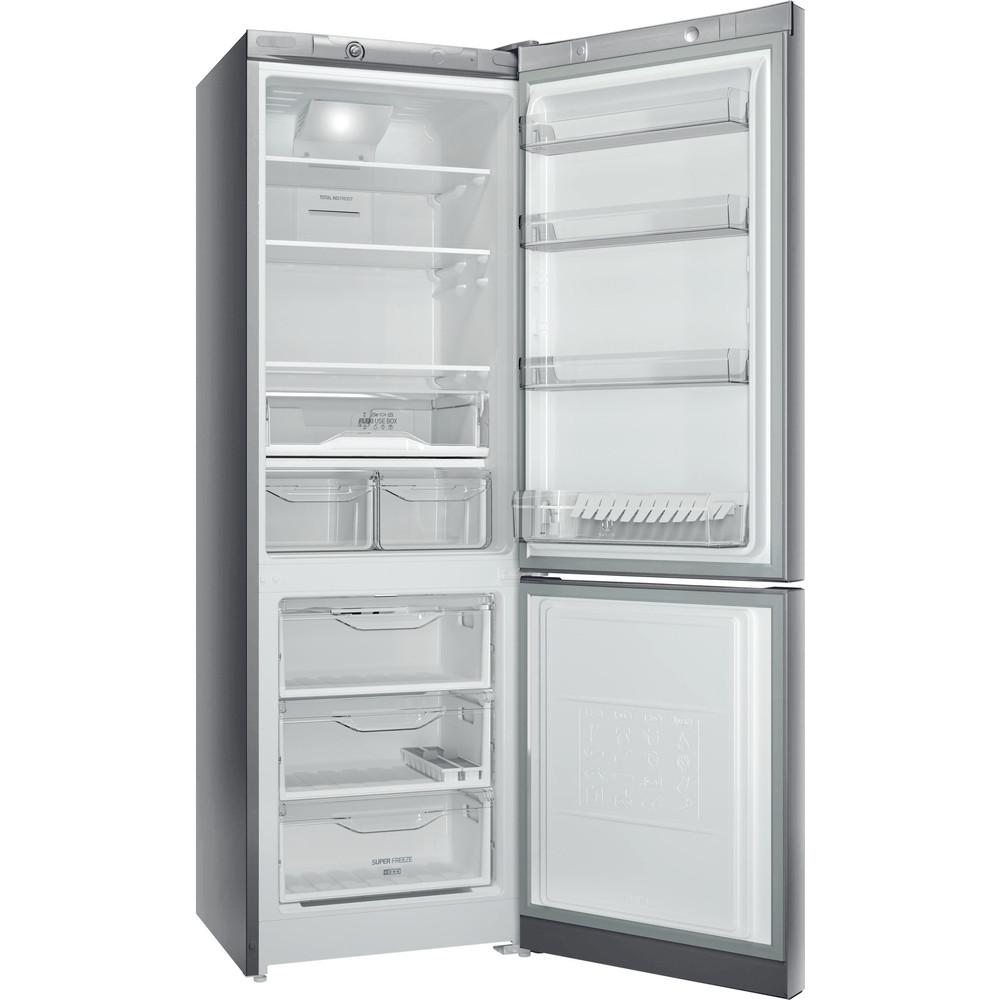 Indesit Холодильник з нижньою морозильною камерою. Соло DF 4181 X Нержавіюча сталь 2 двері Perspective open