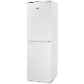 Indesit Комбиниран хладилник с камера Свободностоящи CAA 55 Бял 2 врати Perspective