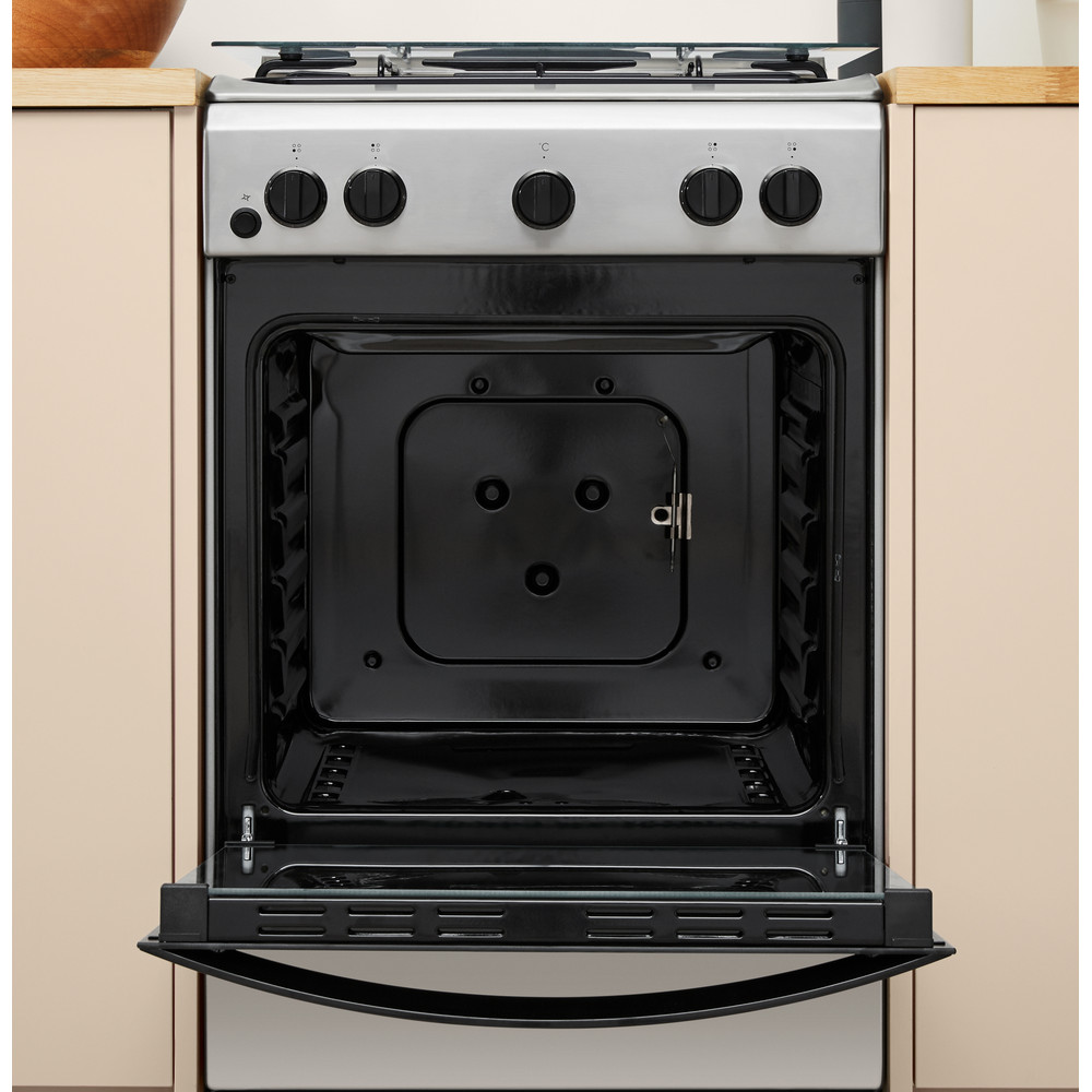 Indesit Cocina IS5G1PMX/E Inox Gas Lifestyle_Frontal_Open
