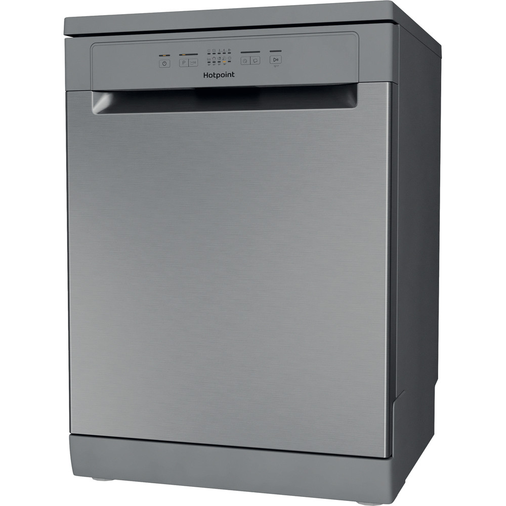 Hotpoint Dishwasher Free-standing HFC 2B19 X UK N Free-standing F Perspective