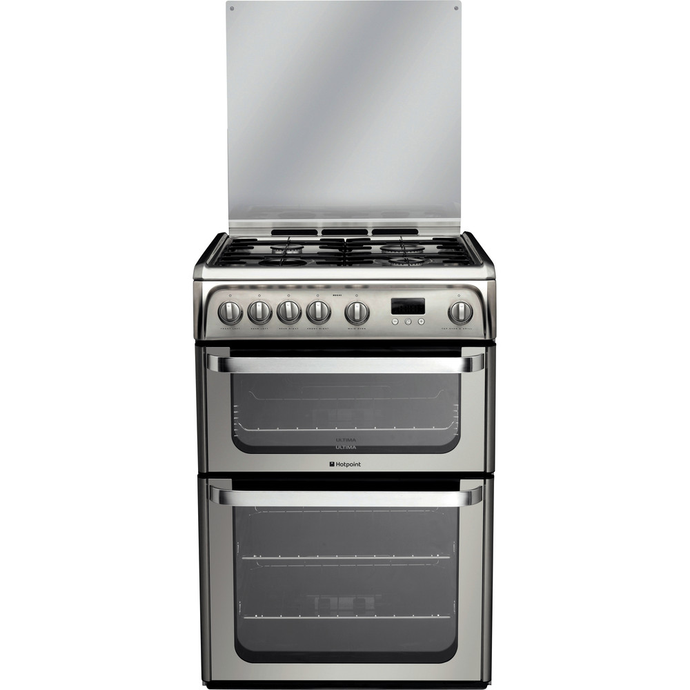 Hotpoint Double Cooker HUG61X Inox A+ Stainless steel Frontal