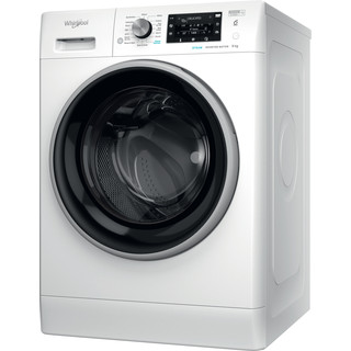 Whirlpool Washing machine Free-standing FFD 9458 BSV UK N White Front loader B Perspective