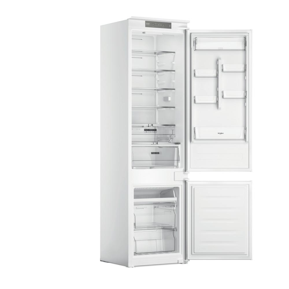 Whirlpool Fridge-Freezer Combination Built-in WHC20 T321 UK White 2 doors Perspective open