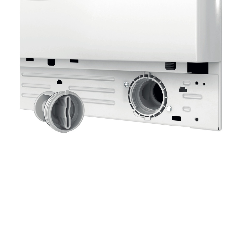 Indesit Kombineret vaskemaskine/tørretumbler Fritstående BDE 1071482X WK EU N Hvid Frontbetjent Filter