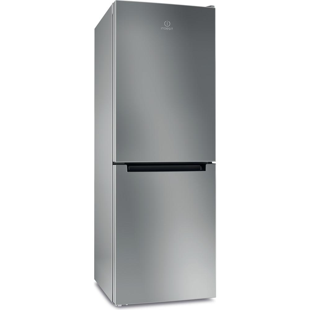Indesit Холодильник с морозильной камерой Отдельностоящий DFE 4160 S Серебристый 2 doors Perspective