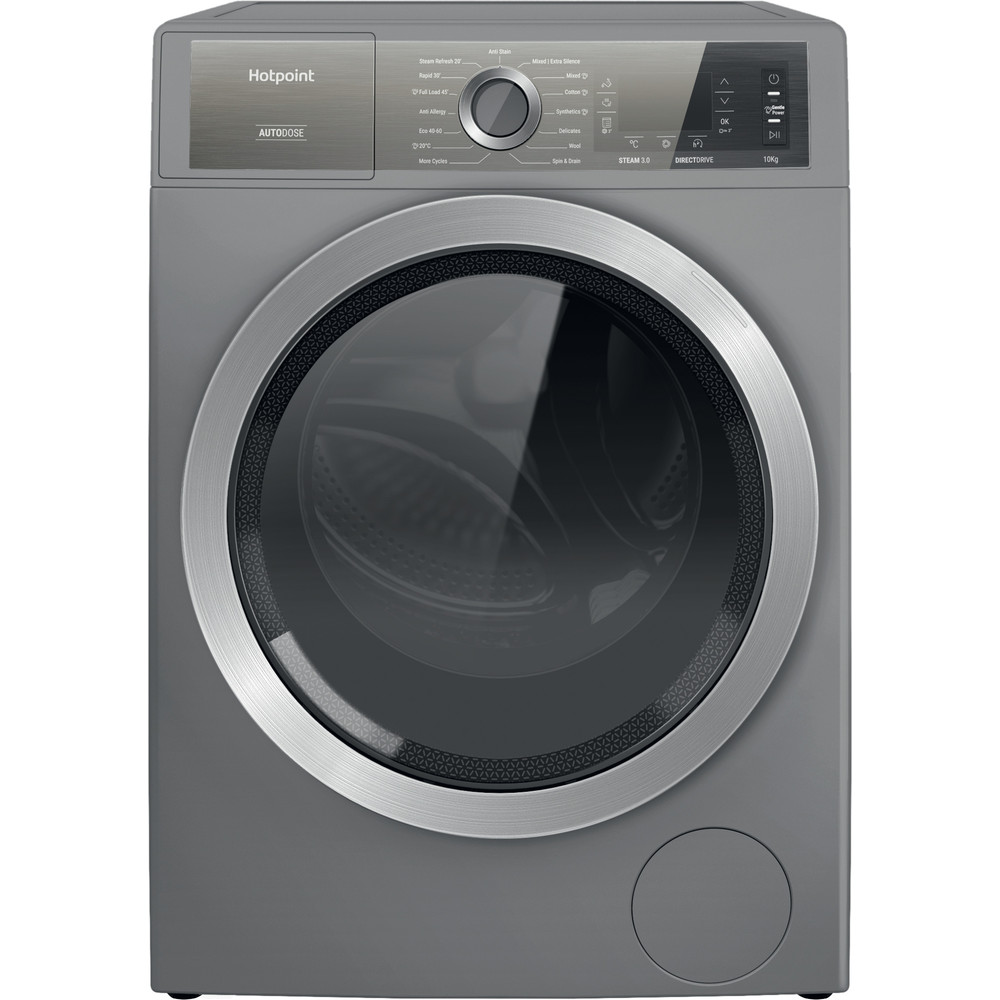 Hotpoint Washing machine Free-standing H8 W046SB UK Silver Front loader A Frontal
