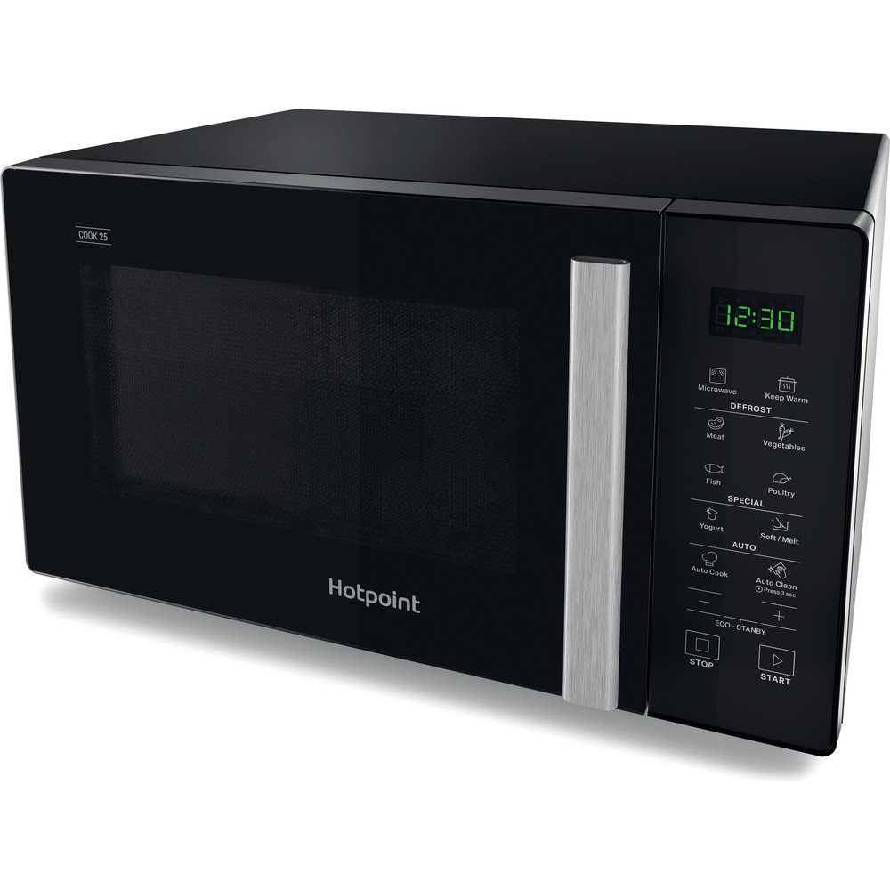 Hotpoint Microwave Free-standing MWH 251 B Black Electronic 25 MW only 900 Perspective