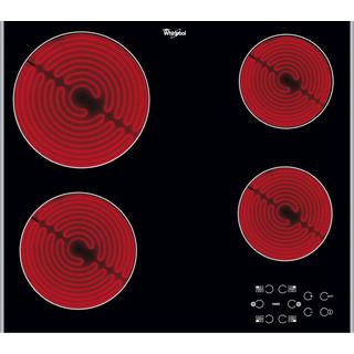 Whirlpool HOB AKT 8090 LX Black Radiant vitroceramic Frontal