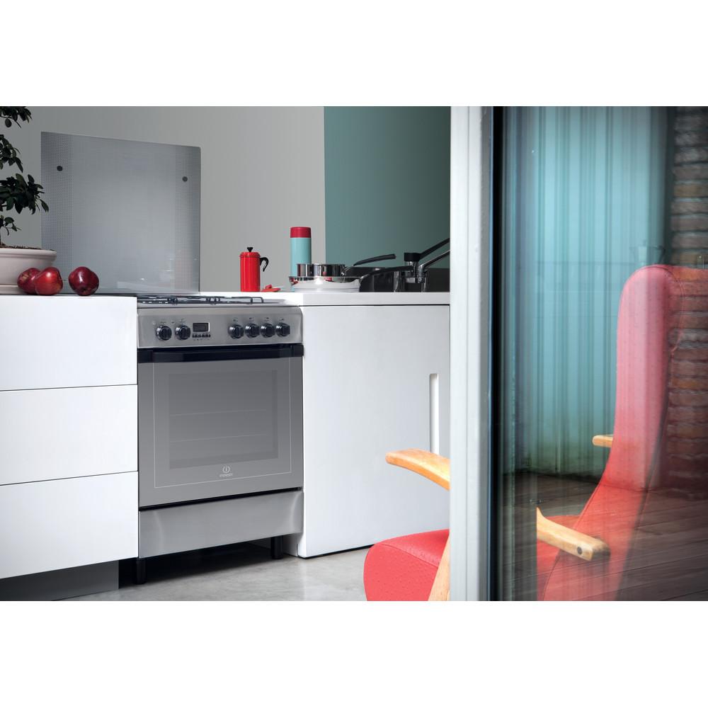 Indesit Cucina con forno a doppia cavità I6TMH2AF(X)/I Inox GAS Lifestyle perspective