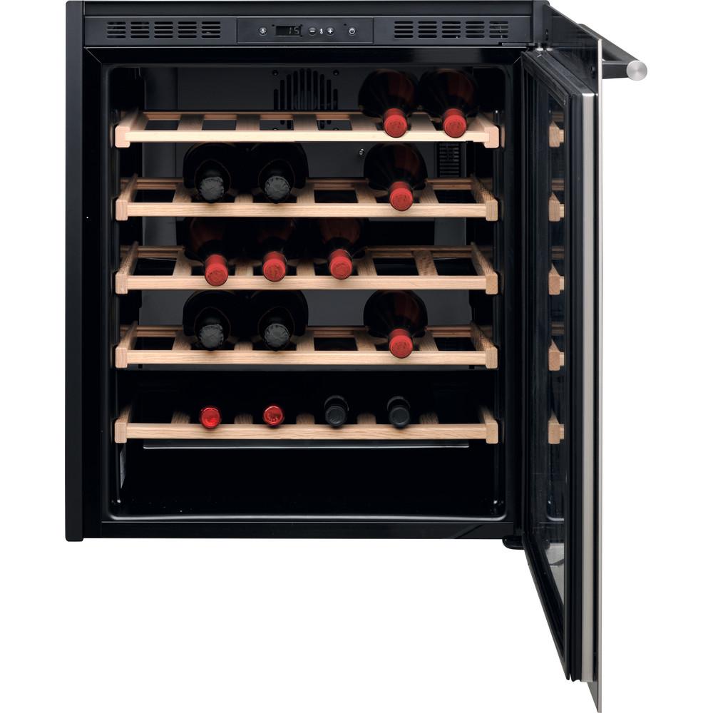 Hotpoint_Ariston Armazenamento de vinho Encastre HA6 WC711 Inox Frontal open
