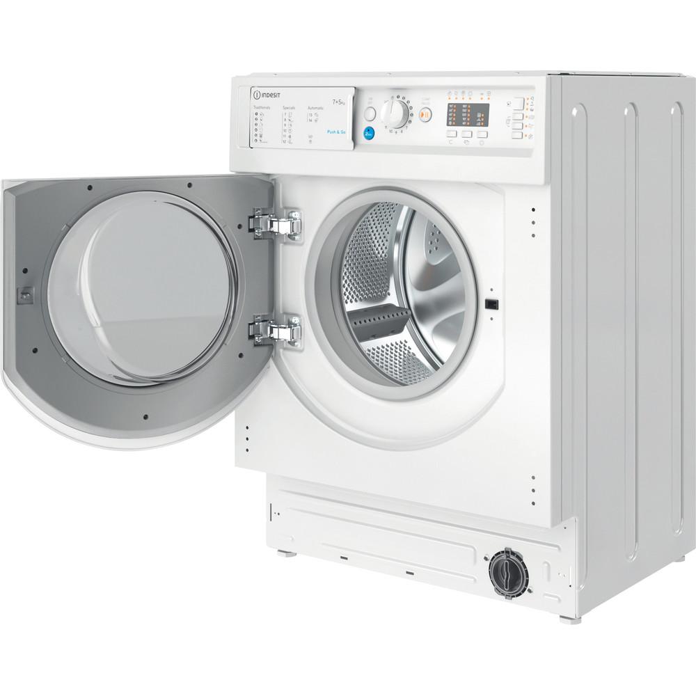Indesit Lavadora secadora Encastre BI WDIL 751251 EU N Blanco Cargador frontal Perspective open