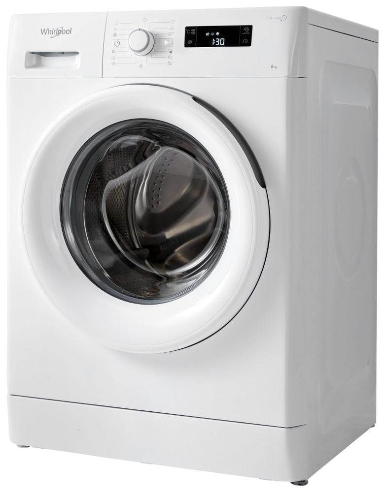 Whirlpool Waschmaschine Standgerät FWF81483WE EU Weiss Frontlader A+++ Perspective