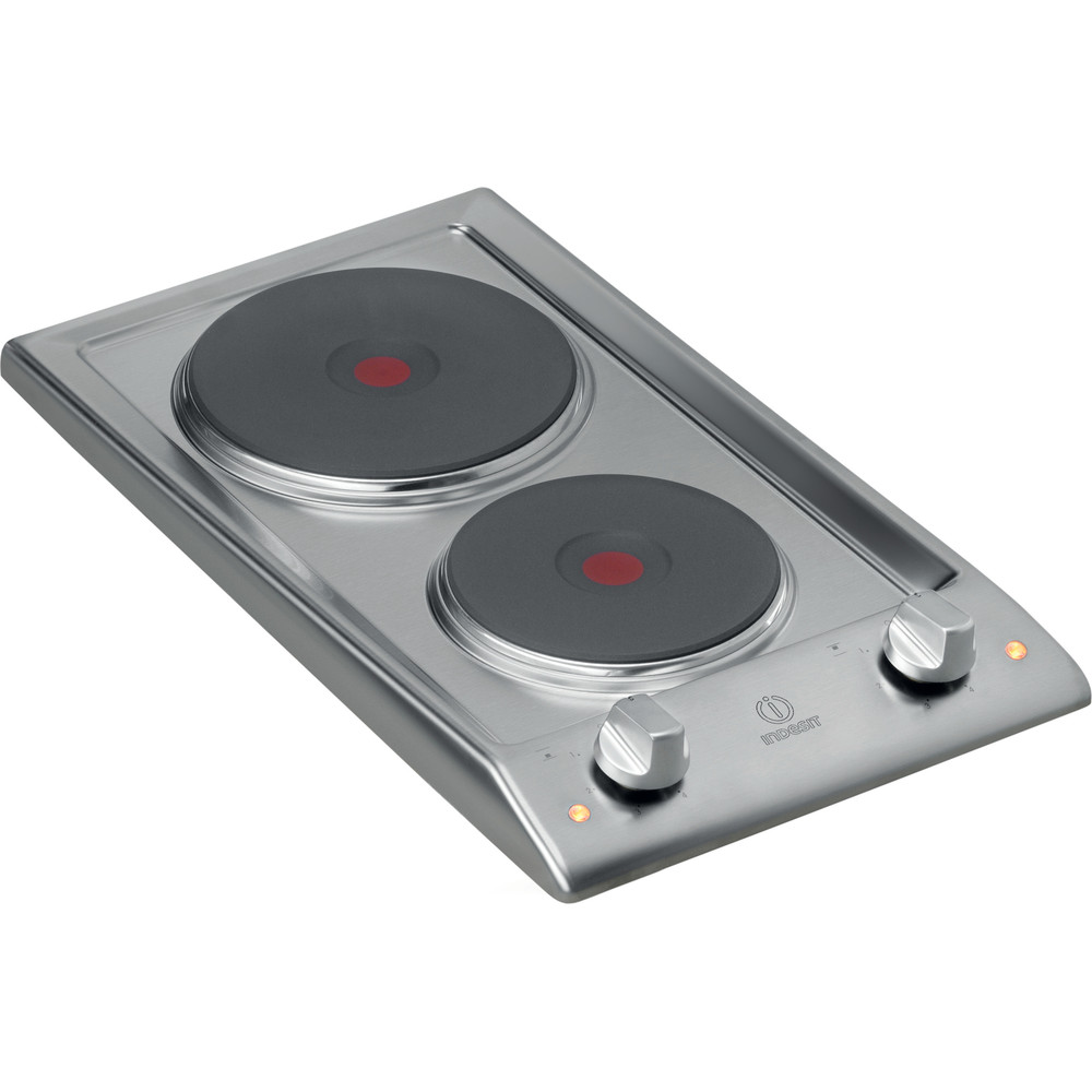 Indesit Piano cottura DP 2E (IX) Inox Solid Plate Perspective