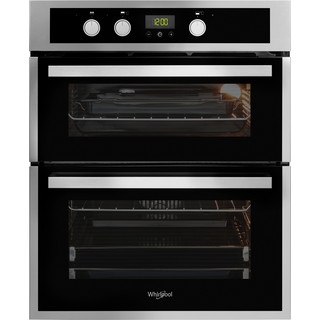 Whirlpool AKL 307 IX Built-Under Double Oven - Inox and Black