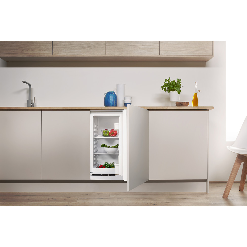 Indesit Refrigerator Built-in IL A1.UK 1 Steel Lifestyle frontal open