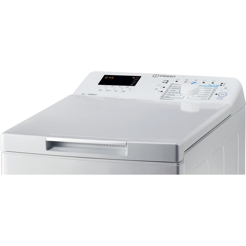 Indesit Pesukone Vapaasti sijoitettava BTW S72200 EU/N Valkoinen Päältä täytettävä E Control panel