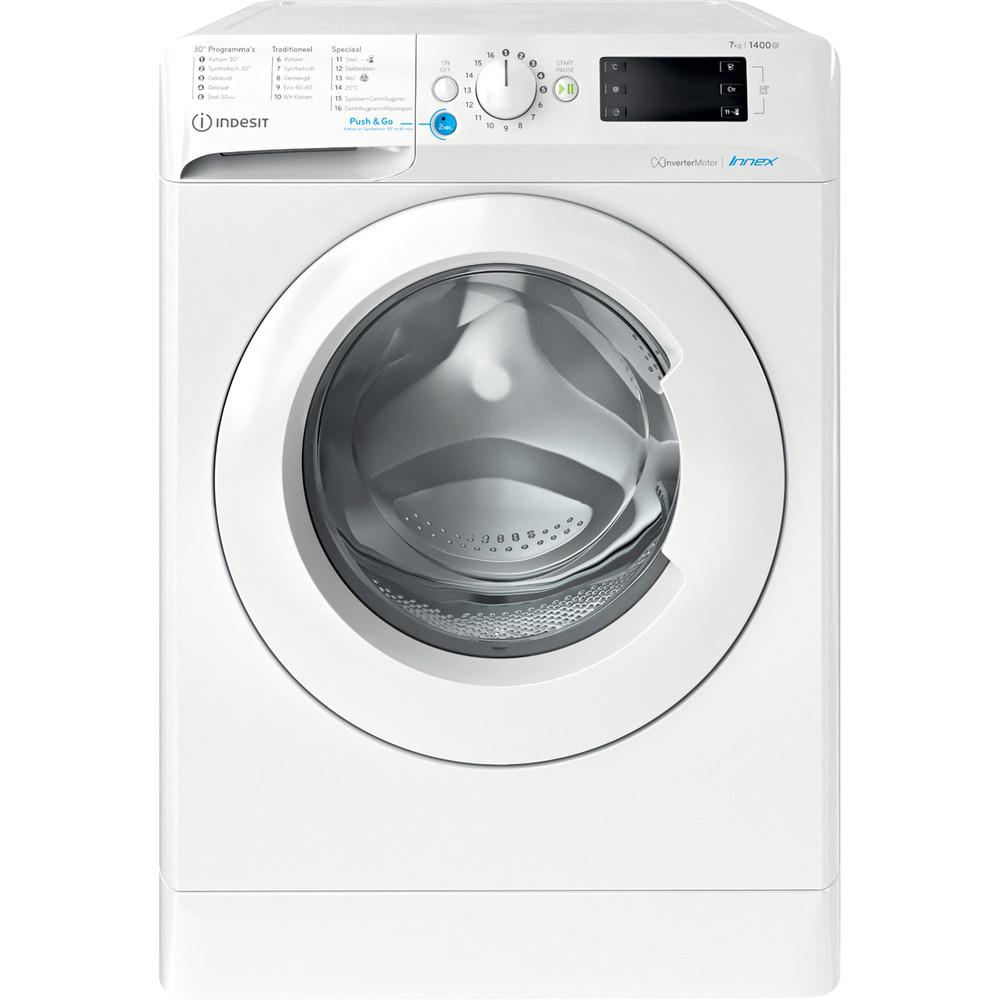 Indesit Wasmachine Vrijstaand BWENL 71483X W N Wit Voorlader A+++ Frontal