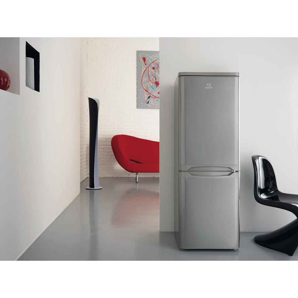 Indesit Комбиниран хладилник с камера Свободностоящи CAA 55 NX Инокс 2 врати Lifestyle frontal