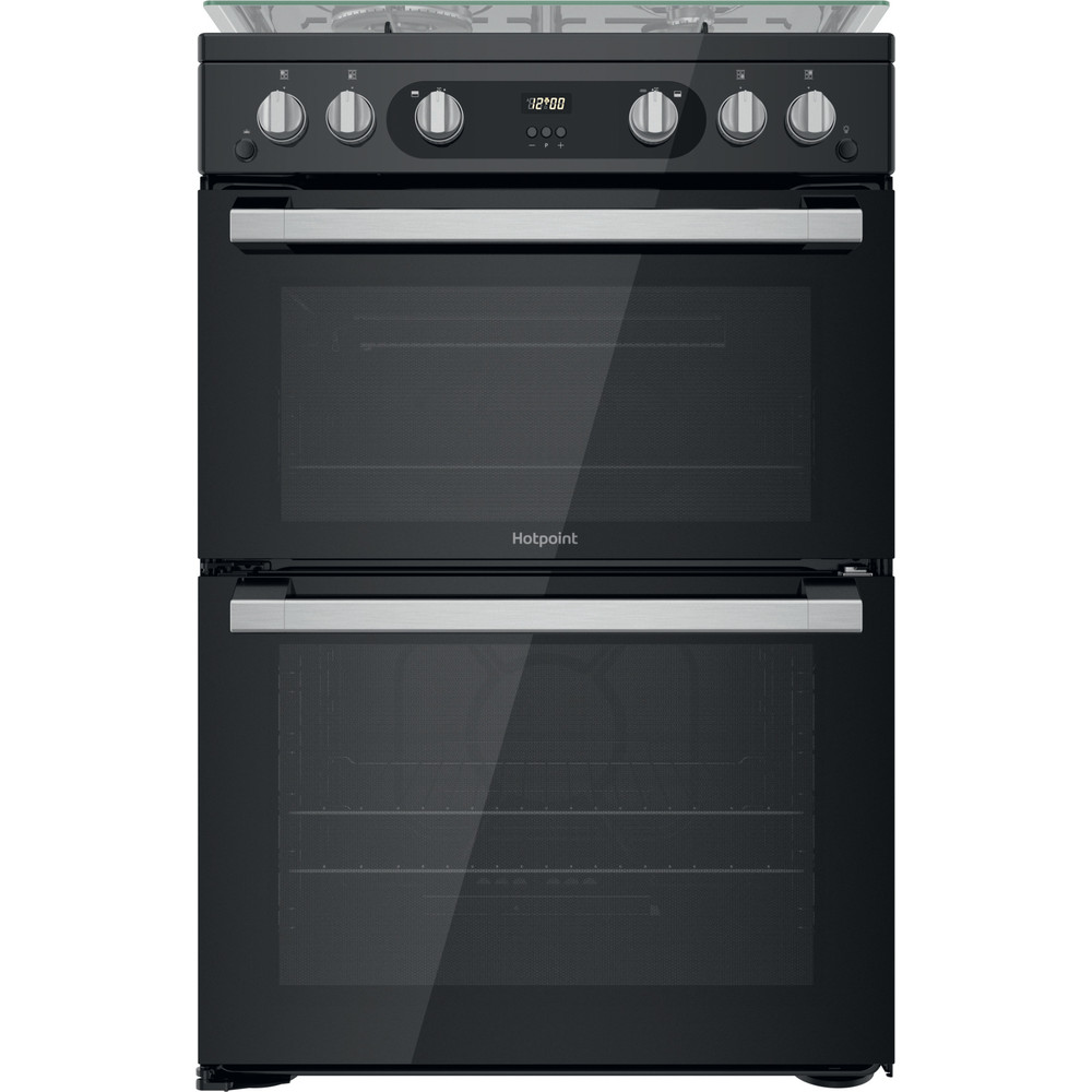 Hotpoint Double Cooker HDM67G0C2CB/UK Black A+ Frontal