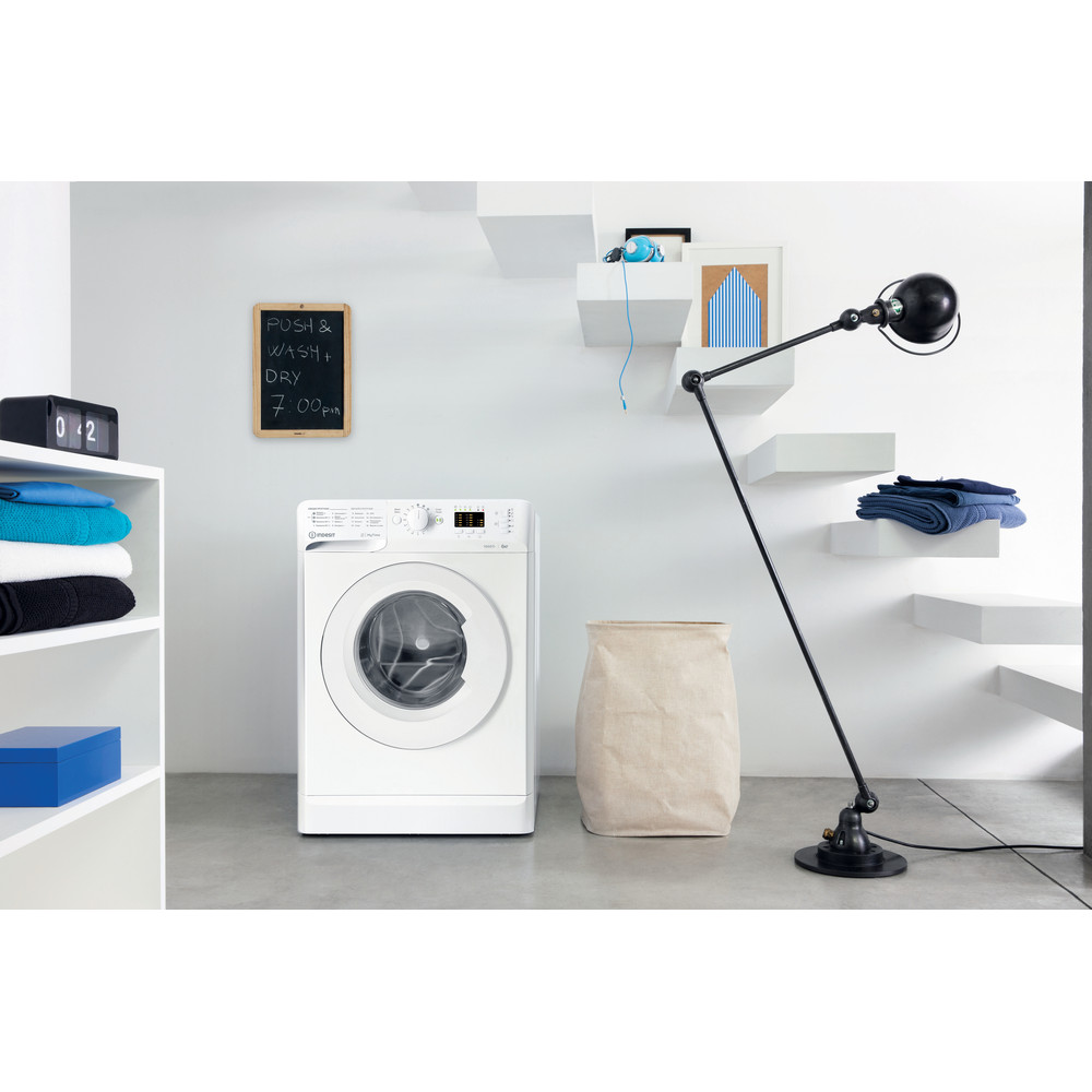 Indesit Пральна машина Соло OMTWSA 61052 W UA Білий Front loader A++ Lifestyle perspective