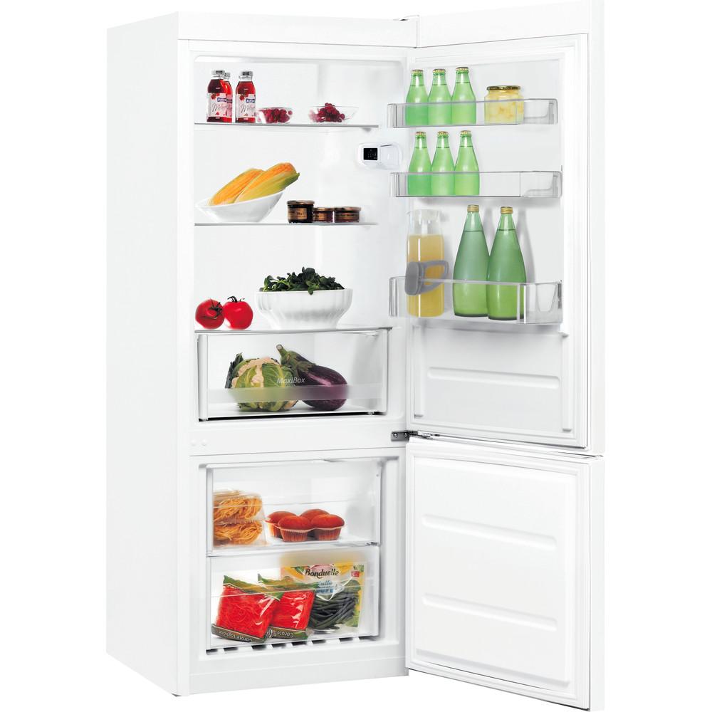 Indesit Kombinētais ledusskapis/saldētava Brīvi stāvošs LI6 S1E W Global white 2 doors Perspective open