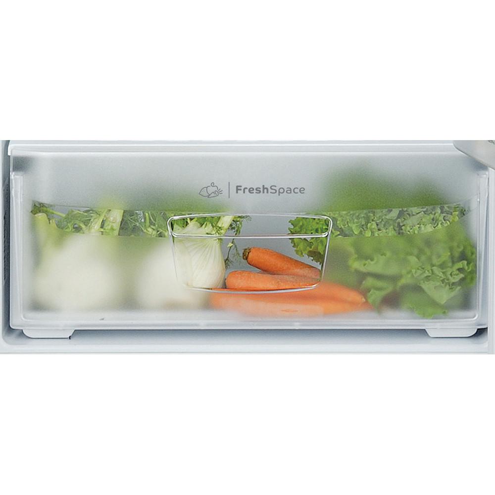 Indesit Combinazione Frigorifero/Congelatore A libera installazione TIAA 10 V SI.1 Argento 2 porte Drawer