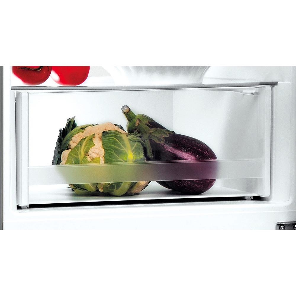 Indesit Réfrigérateur combiné Pose-libre LI8 S2E S Argent 2 portes Drawer