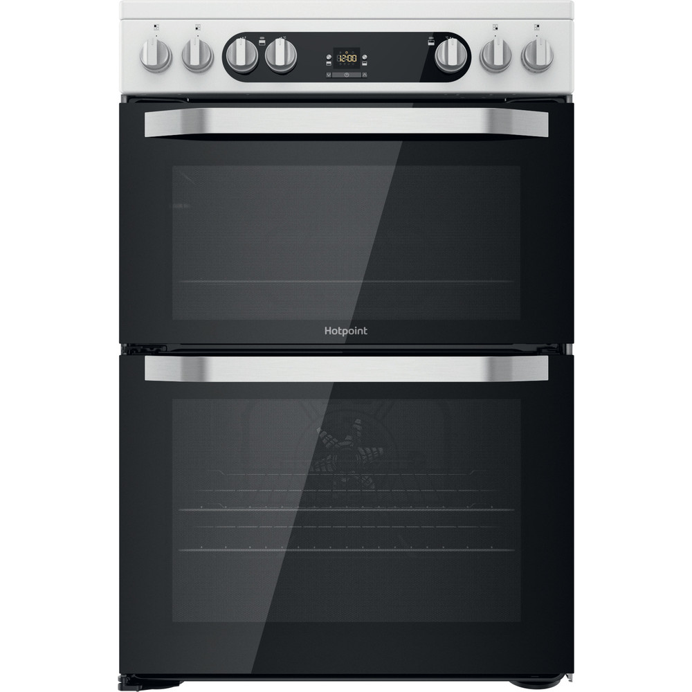Hotpoint Double Cooker HDM67V9HCW/UK/1 White A Frontal
