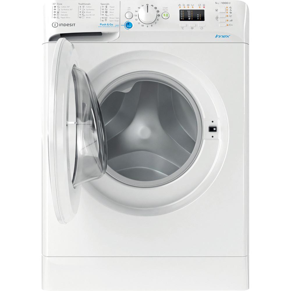 Indesit Перална машина Свободностоящи BWSA 51051 W EE N Бял Предно зареждане F Frontal open